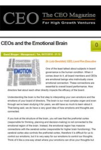 CEOs and the Emotional Brain
